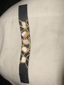 кожаный женский браслет