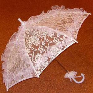эксклюзивный свадебный зонт