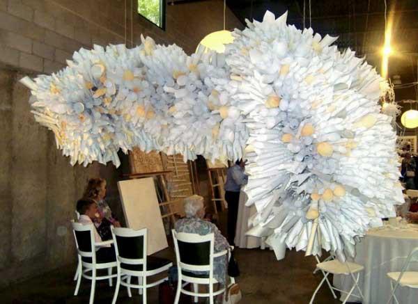 Украшение зала своими руками цветы