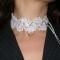 как сделать вязаное украшение на шею