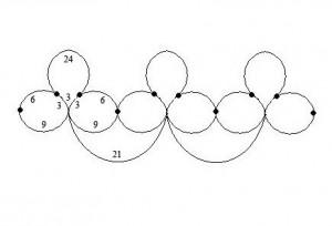 схема колье фриволите