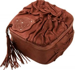 сумка декорированная кожей