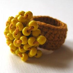 вязаное колечко