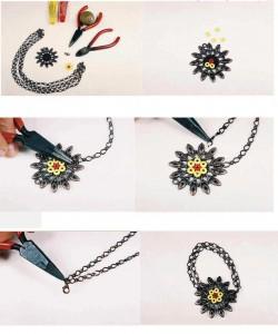 Цветочное ожерелье своими руками