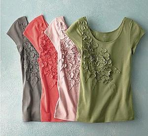 украшение одежды цветами