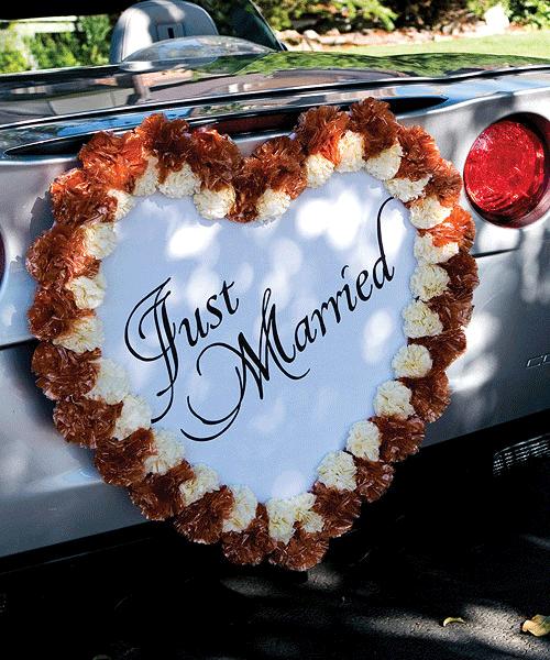 Украшение на свадебную машину фото своими руками