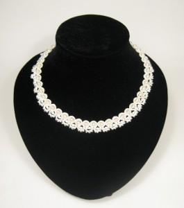 свадебное ожерелье в технике анкарс