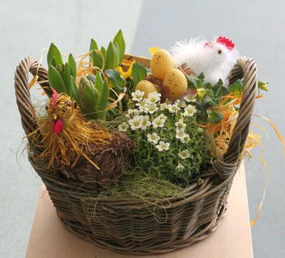 Декор пасхальный корзины своими руками