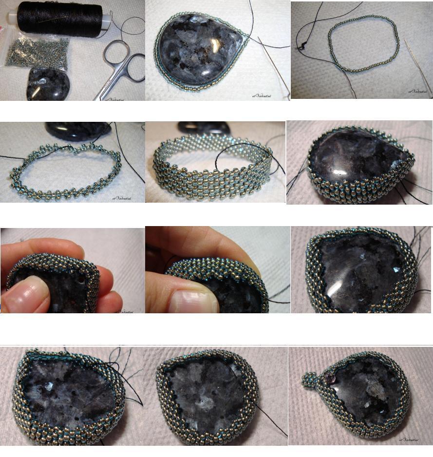 Как сделать украшение с камнями 288