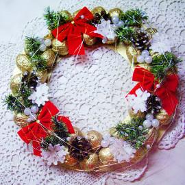 создаем красивый рождественский венок