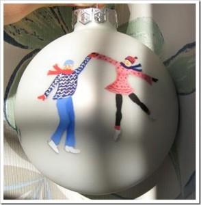 Роспись новогоднего шарика
