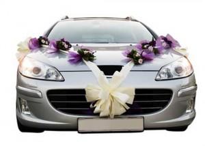 свадебное убранство авто