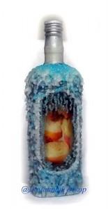 бутылка, декорированная свечкой