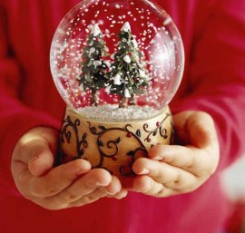 стеклянный снежный шар своими руками.