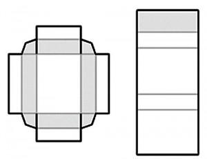 шаблон коробочки