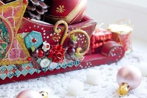 фрагмент декора новогодних санок