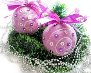 новогодние шары из шерсти