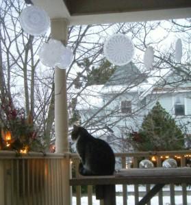 украшаем веранду к Новому году