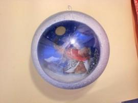 красивый новогодний шар Санта Клаус