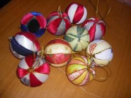 новогодний шар своими руками