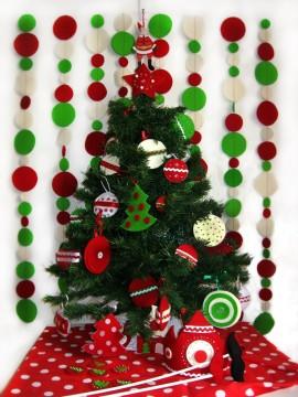 новогодние украшения для ёлки из фетра