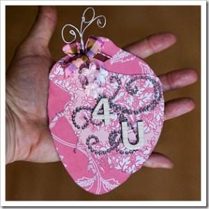 валентинка в форме настоящего сердца