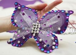 елочные игрушки hand-made в виде бабочек