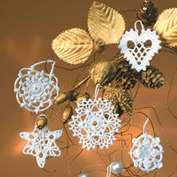 Снежинки связанные крючком