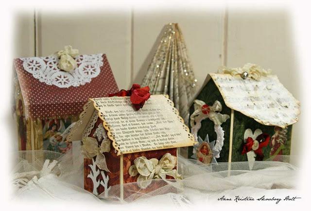 Мастер-класс: рождественский домик Украшения своими руками