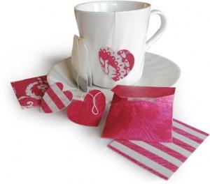 чай с валентинками