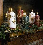 свечи в готическом стиле