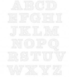шаблоны буквы