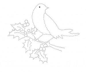 птичка шаблон