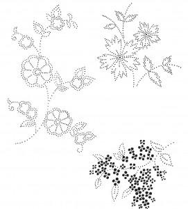 шаблон цветочных мотивов