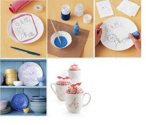 процесс росписи посуды