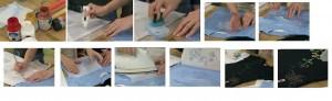 процесс переноса рисунка на футболку