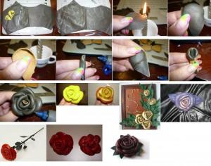 как сделать цветы из кожи