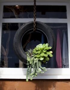 вертикальный декор с шиной