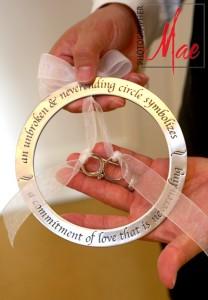 красивый аксессуар для свадебных колец