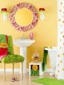 идея для декора ванной комнаты
