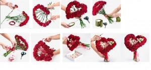 необычный букет цветов на праздник