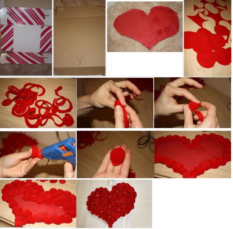 Как сделать сердце из роз своими руками пошаговое фото 30