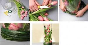ваза с тюльпанами своими руками на 8 марта