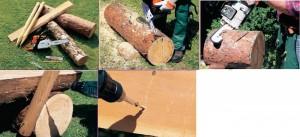 Как сделать садовую лавочку из бревен