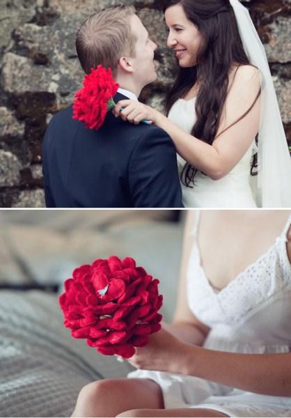 свадебный букет из сердечек своими руками