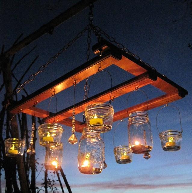 Светильники для сада своими руками из дерева