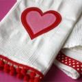 Красивые полотенца ко дню святого Валентина