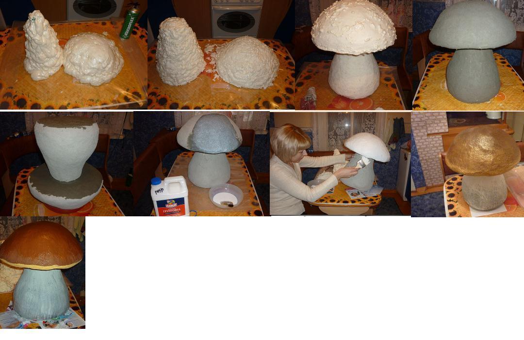 Как сделать гриб в саду своими руками
