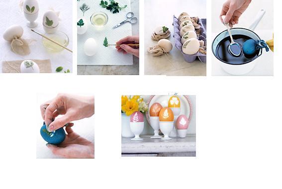 растительный орнамент на пасхальных яйцах