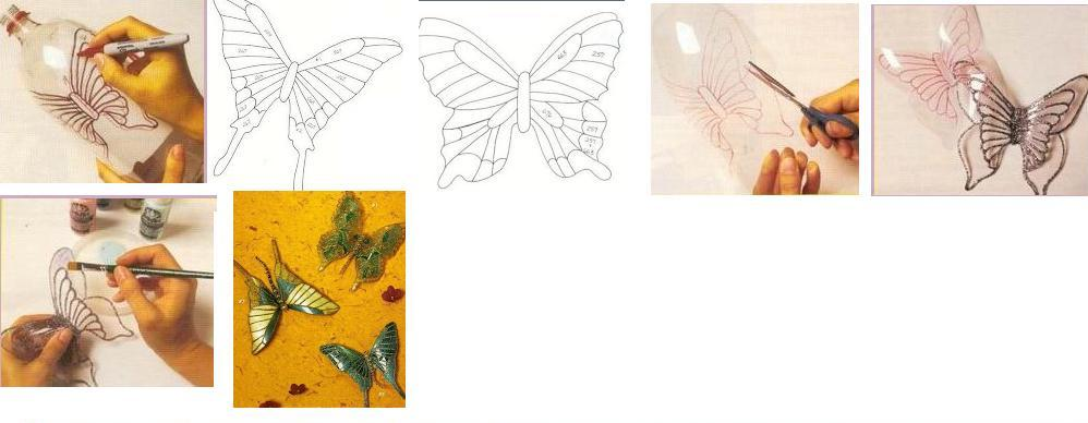 декоративные бабочки из пластиковых бутылок